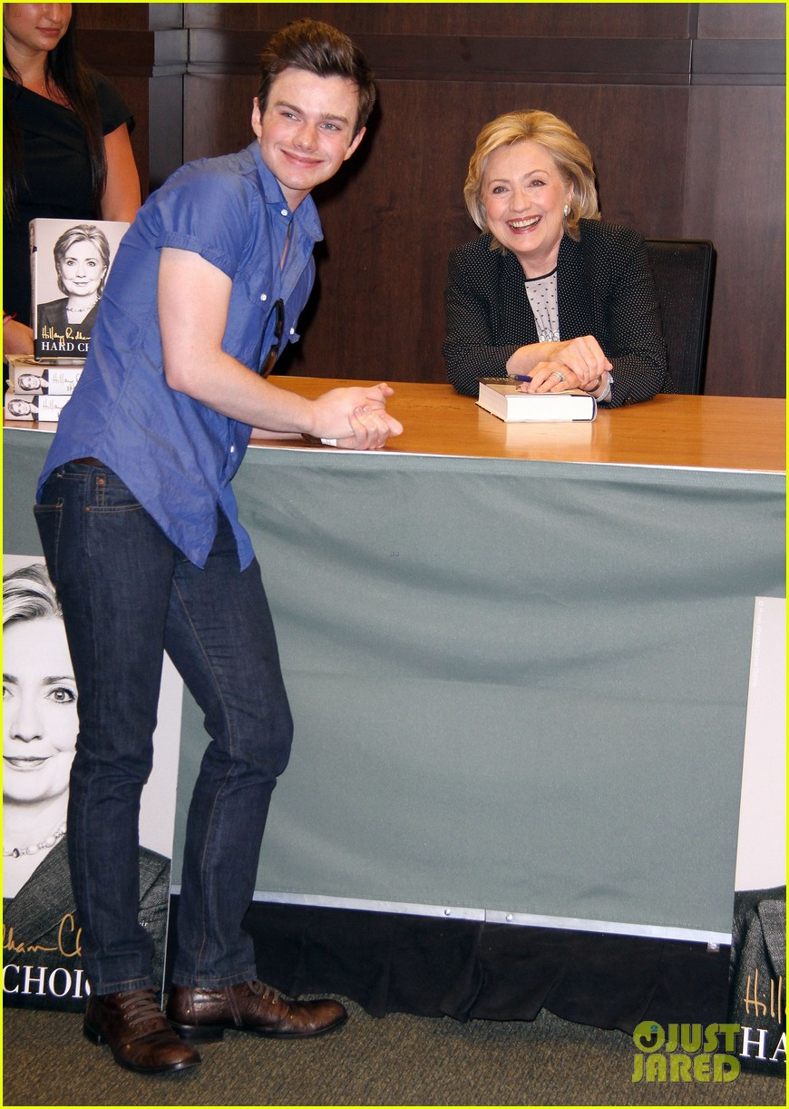 chris colfer hilary clinton book signing 063139262