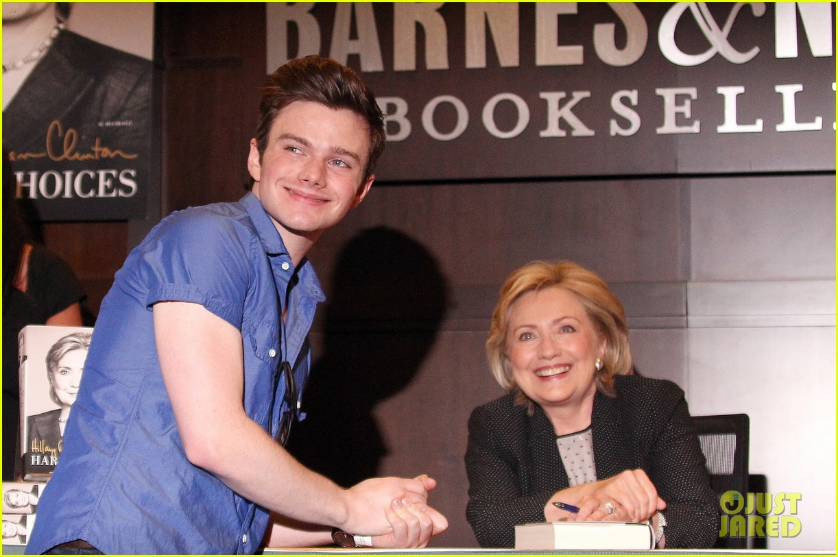chris colfer hilary clinton book signing 103139266