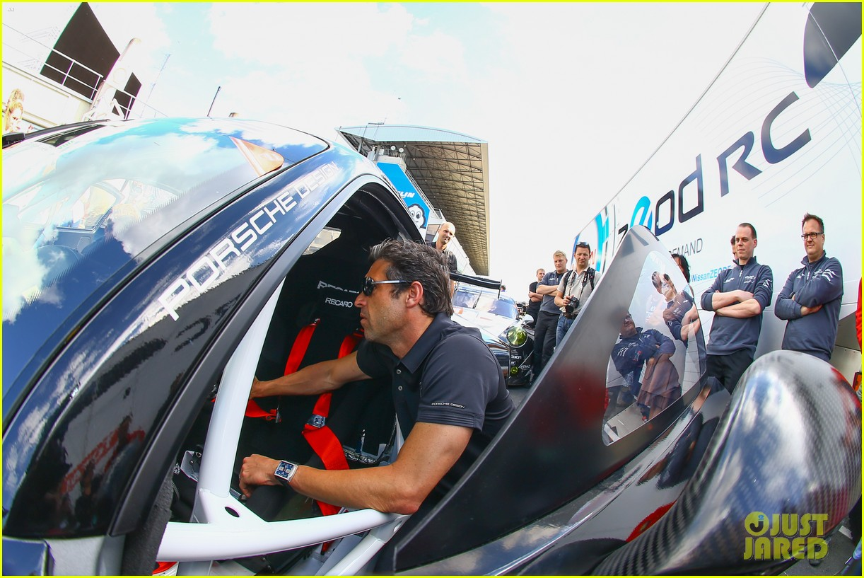 patrick dempsey gets behind the drivers wheel at le mans 08