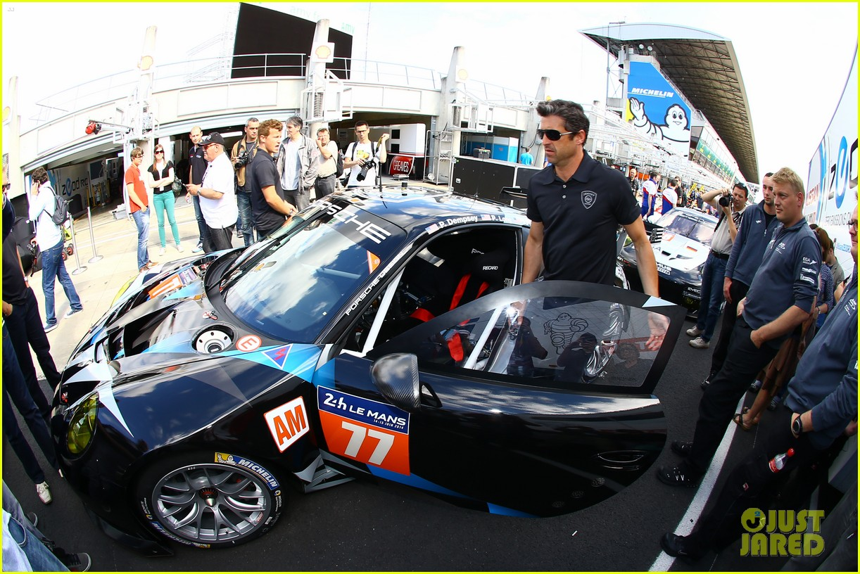 patrick dempsey gets behind the drivers wheel at le mans 093127322
