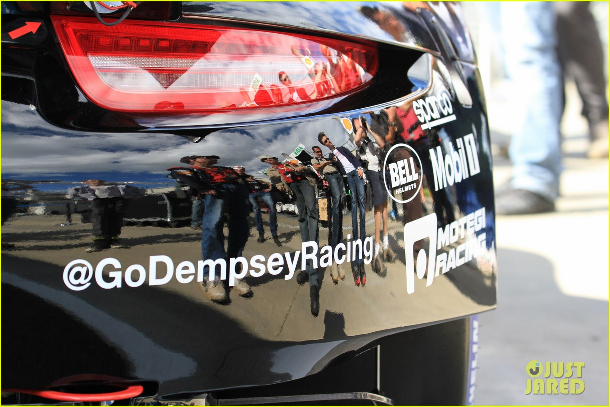 patrick dempsey gets behind the drivers wheel at le mans 10