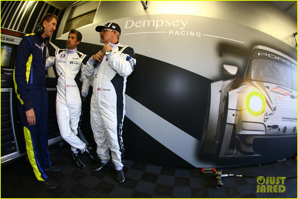 patrick dempsey gets behind the drivers wheel at le mans 12