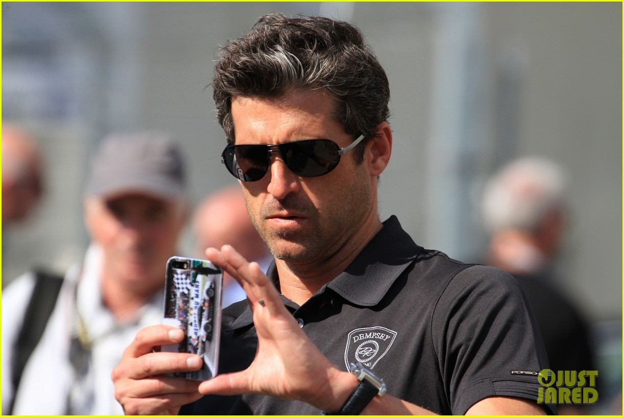 patrick dempsey gets behind the drivers wheel at le mans 15