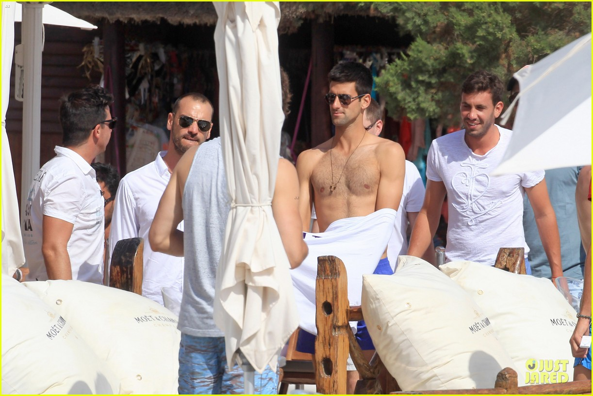 novak djovokic shirtless vacation after french open 063132168
