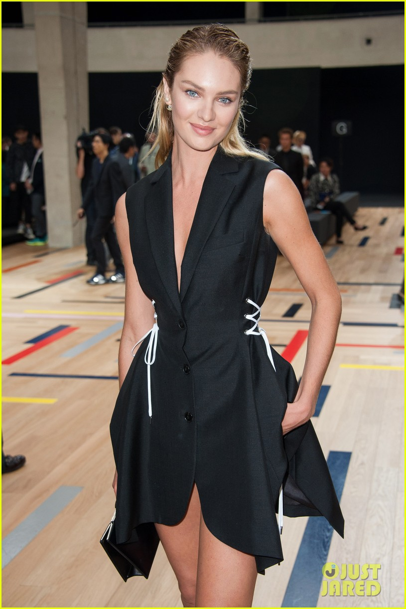 ansel elgort candice swanepoel dior homme show 083145777