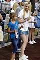 elle fanning first pitch dodgers game 01