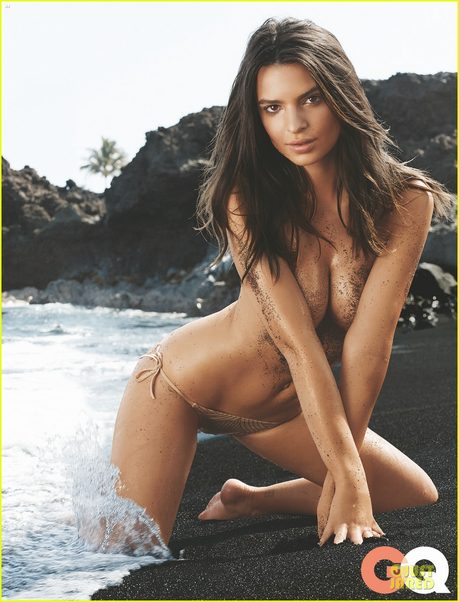 emily ratajkowski sexy topless gq july 2014 cover 01