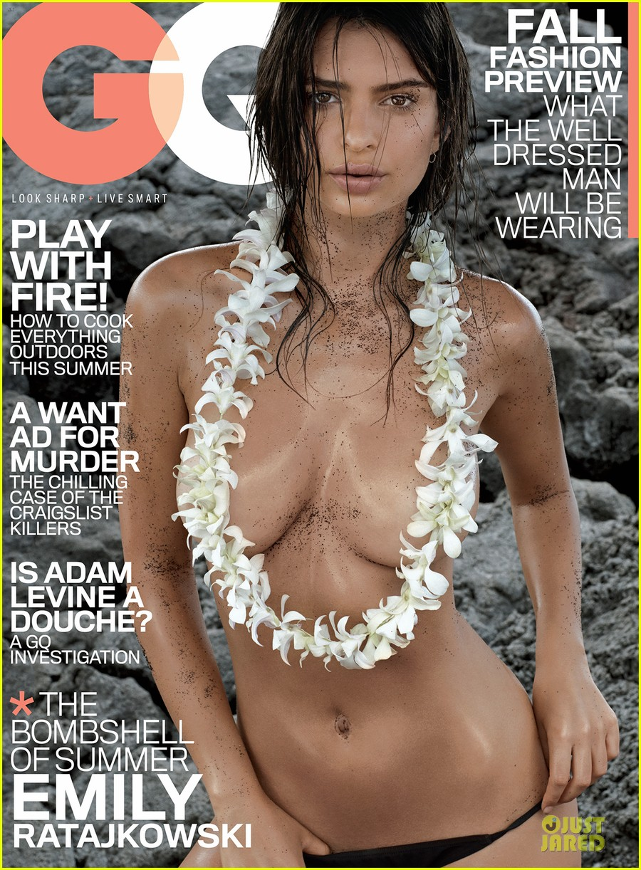 emily ratajkowski sexy topless gq july 2014 cover 03