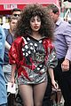 lady gaga debuts huge curly teased hairdo thick eyebrows in nyc 02