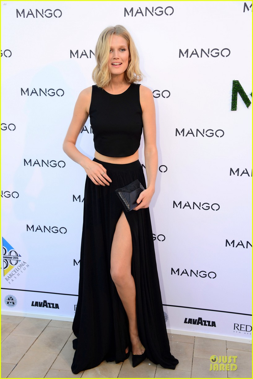 toni garrn legs for days at mango fashion show 013147181
