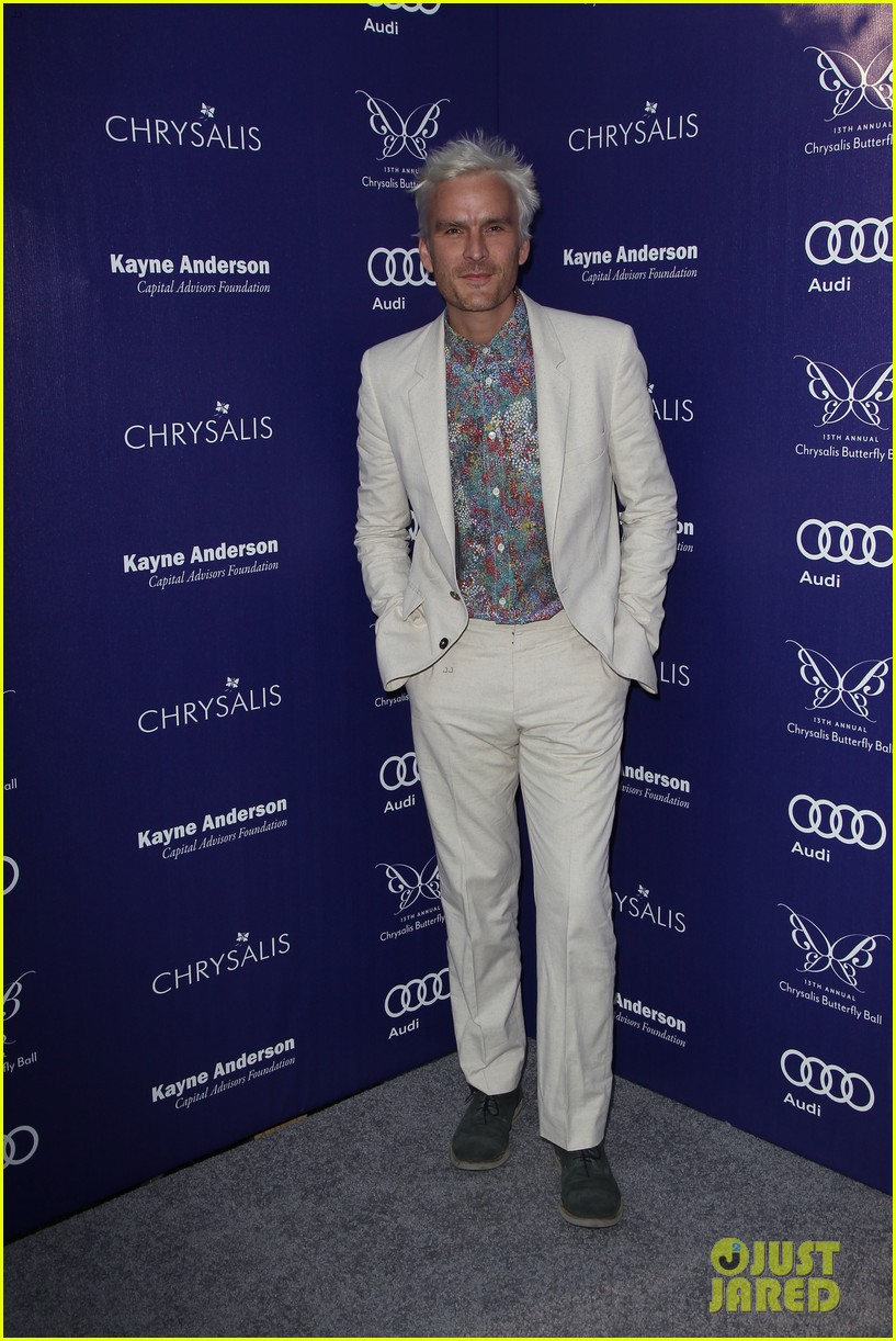 balthazar getty debuts white hair chrysalis butterfly ball 13