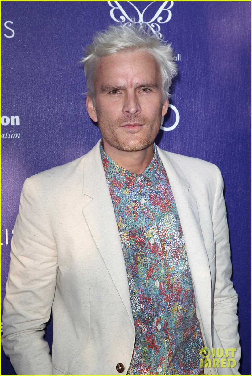 balthazar getty debuts white hair chrysalis butterfly ball 153130820