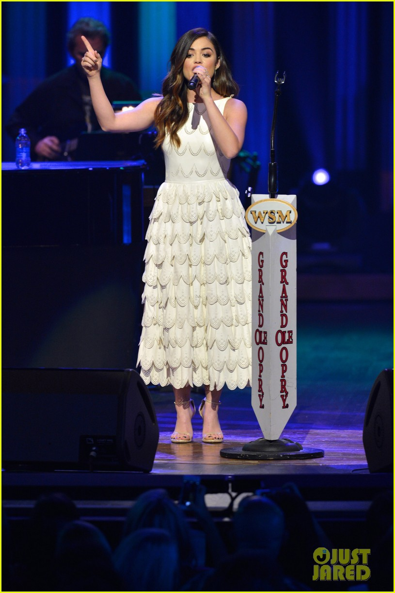 lucy hale makes her grand ole opry debut 14