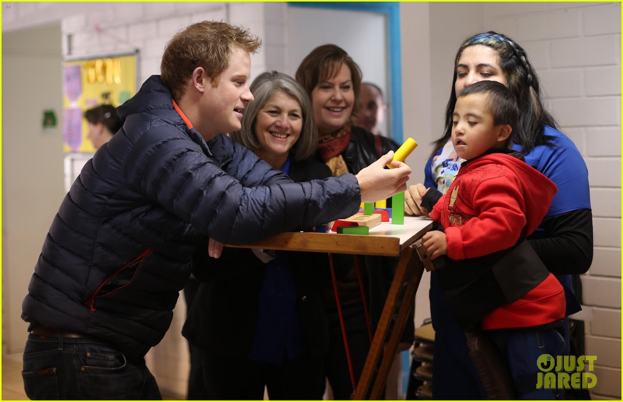 prince harry busts a move children chile visit 163146214