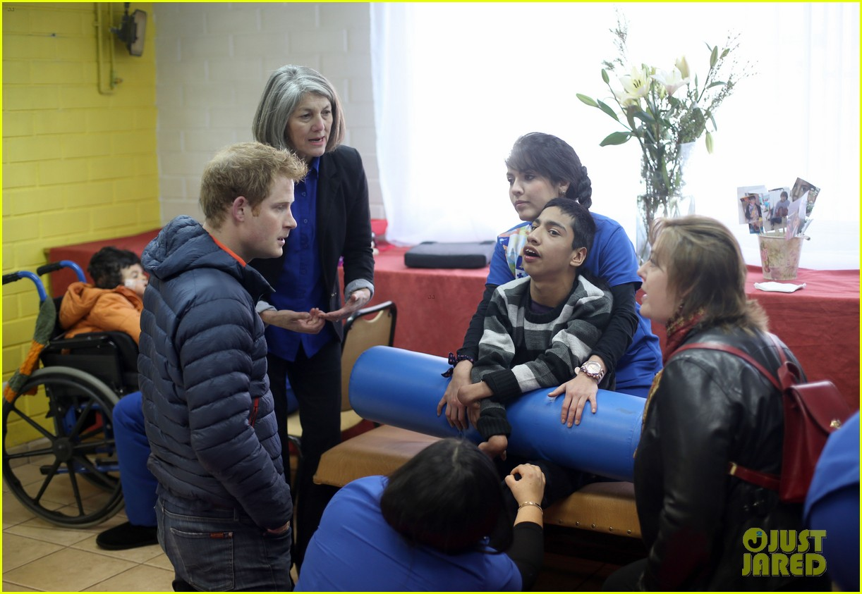 prince harry busts a move children chile visit 17