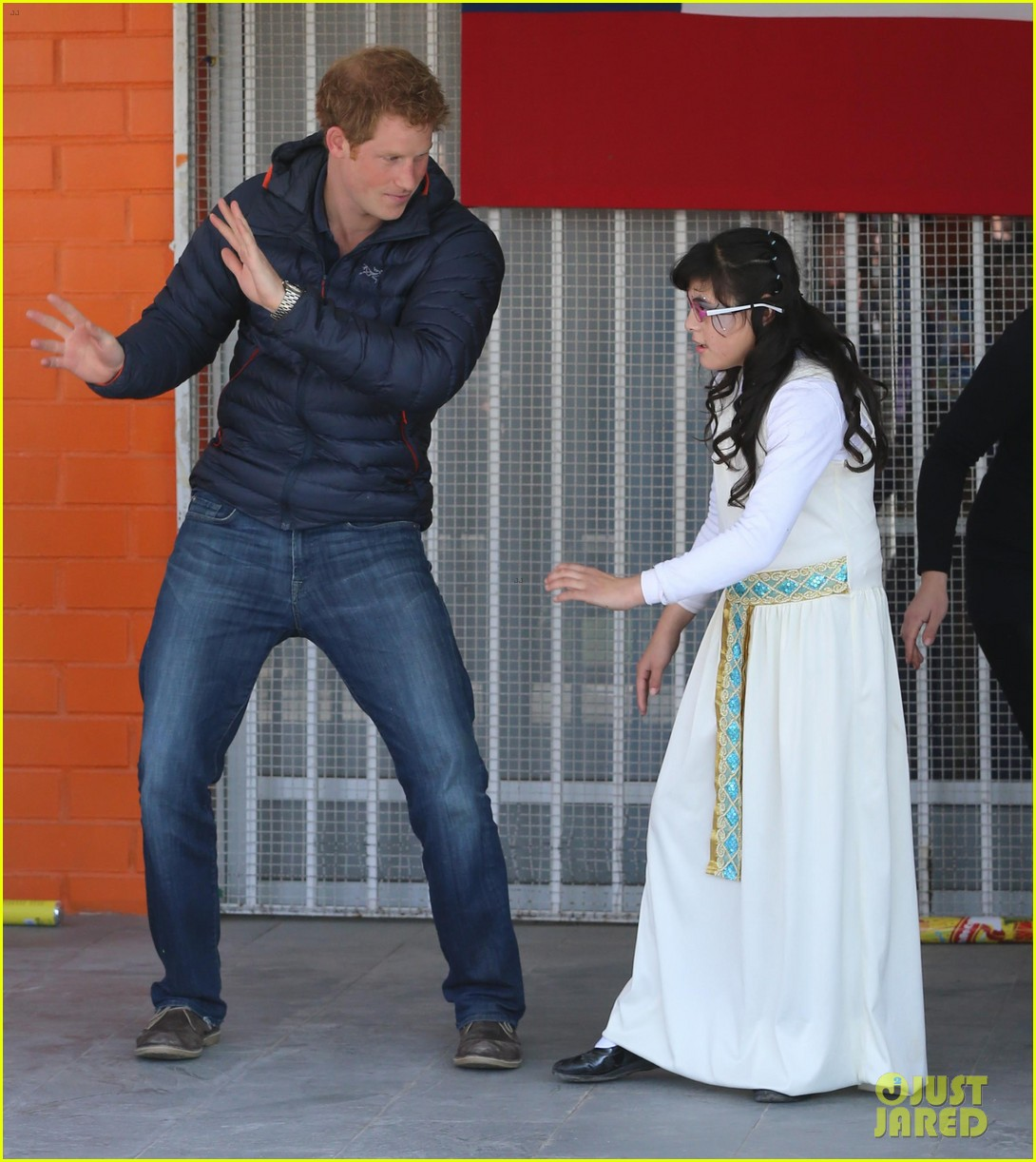 prince harry busts a move children chile visit 20