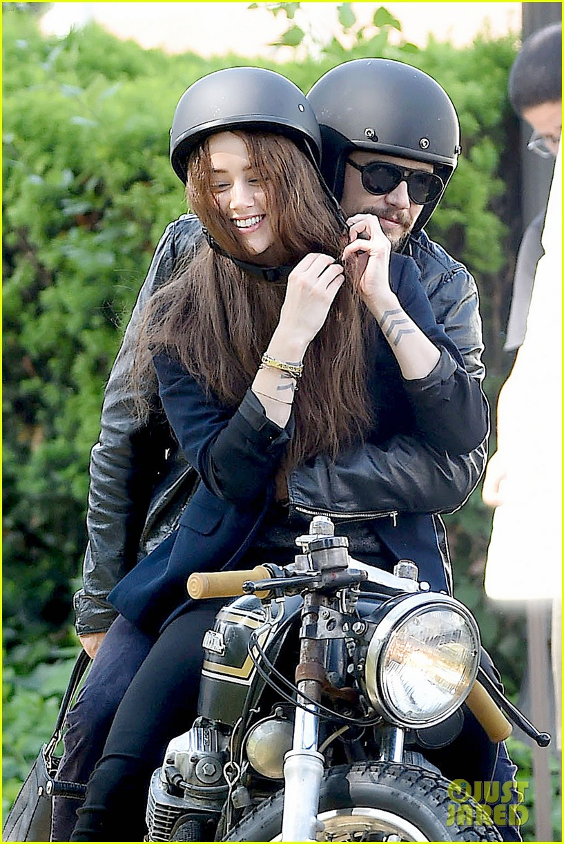james franco wraps his arms around amber heard for motorcycle ride 023128092