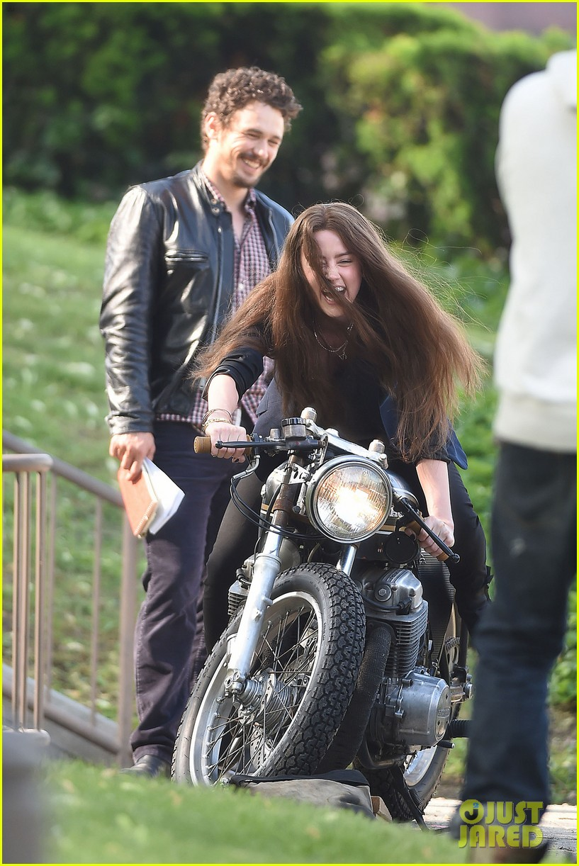 james franco wraps his arms around amber heard for motorcycle ride 053128095