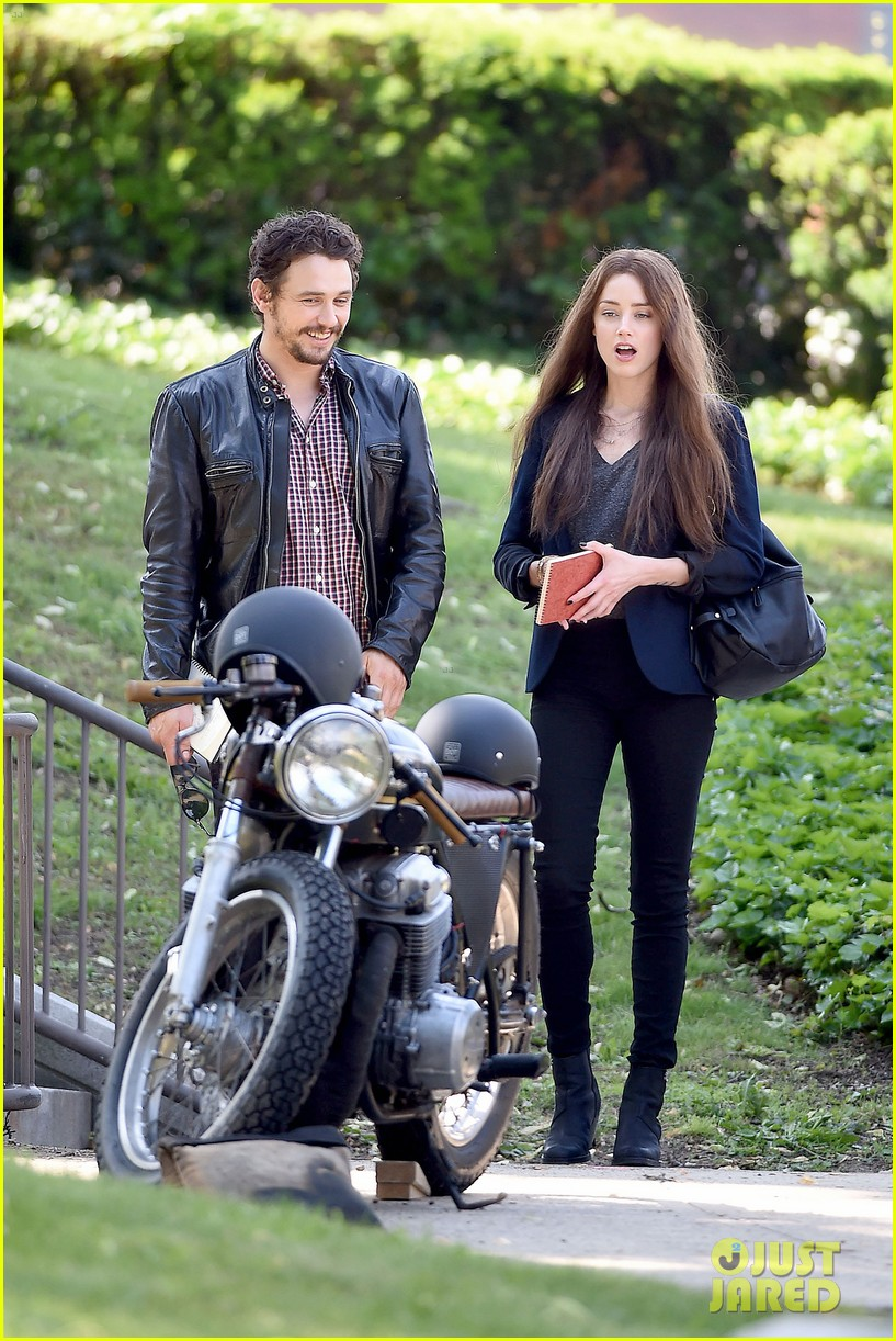 james franco wraps his arms around amber heard for motorcycle ride 073128097