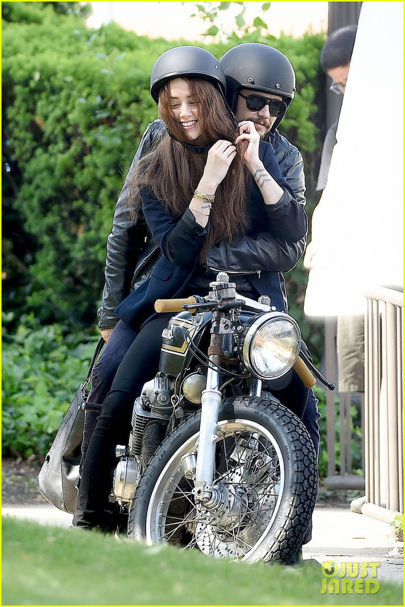 james franco wraps his arms around amber heard for motorcycle ride 12