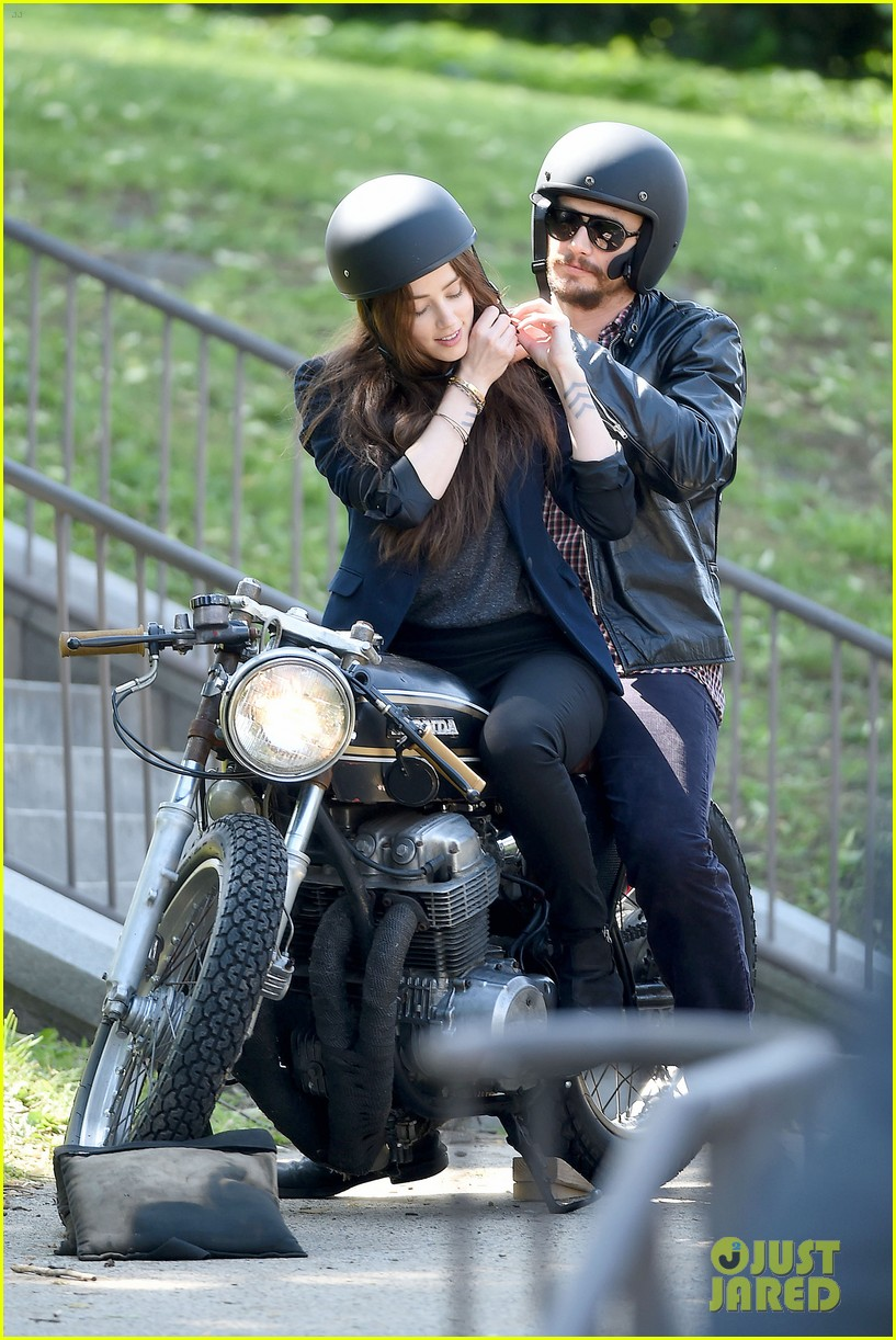james franco wraps his arms around amber heard for motorcycle ride 13