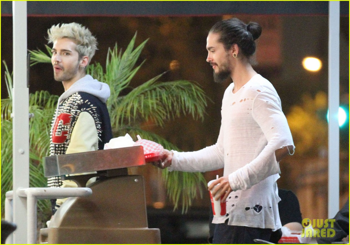 tokio hotel tom bill kaulitz grab astro burger together 153136190