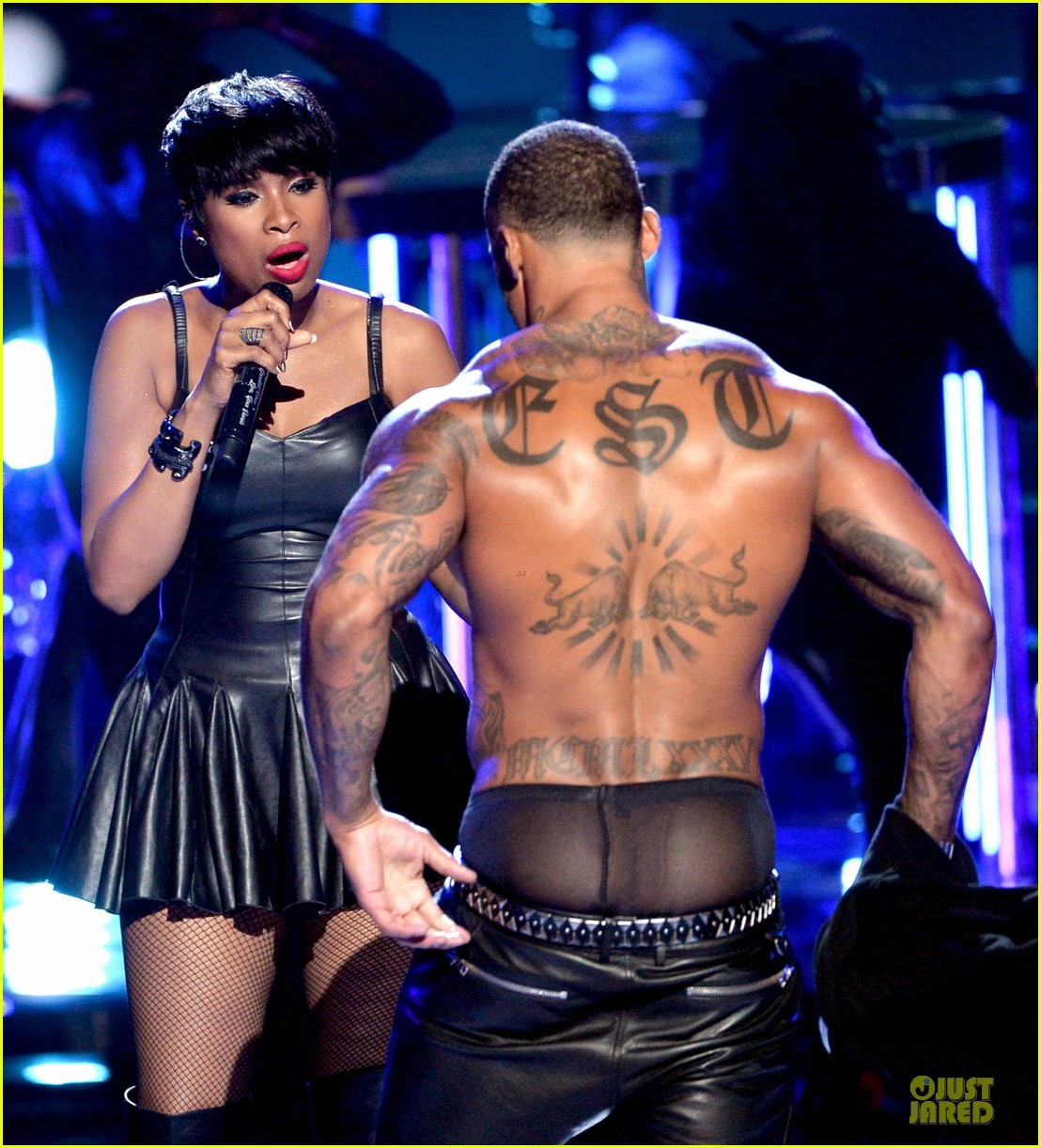 jennifer hudson shirtless david mcintosh bet awards 2014 123146470