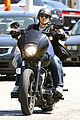 charlie hunnam arrives to sons of anarchy set on motorcycle 03
