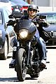 charlie hunnam arrives to sons of anarchy set on motorcycle 07