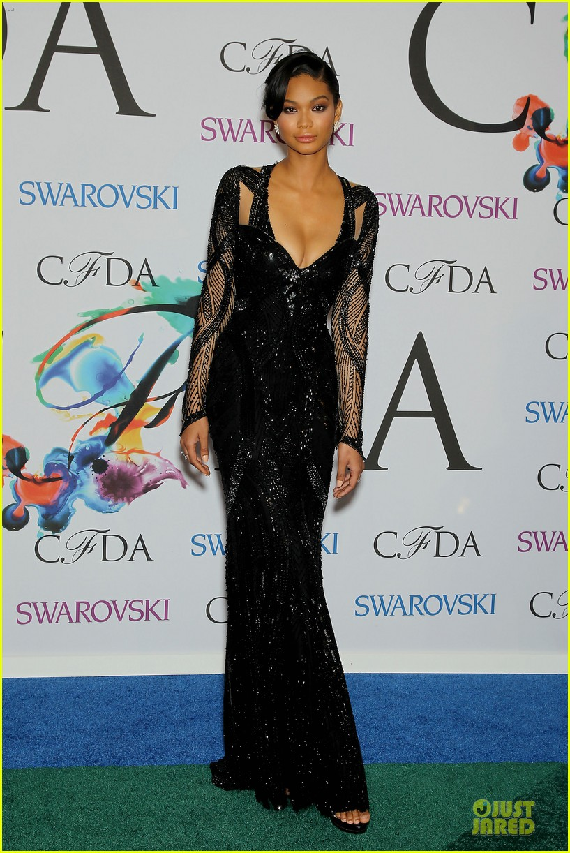chanel iman joan smalls cfda awards 2014 09