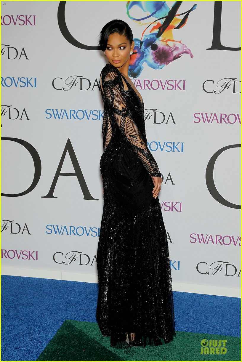 chanel iman joan smalls cfda awards 2014 103127043