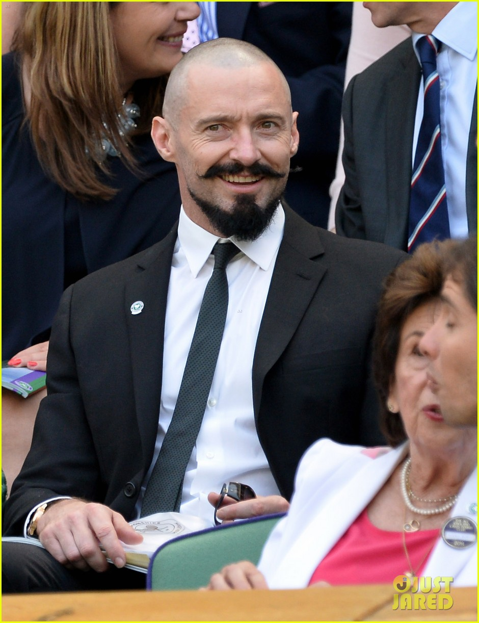 hugh jackman watches wimbledon match 013142572