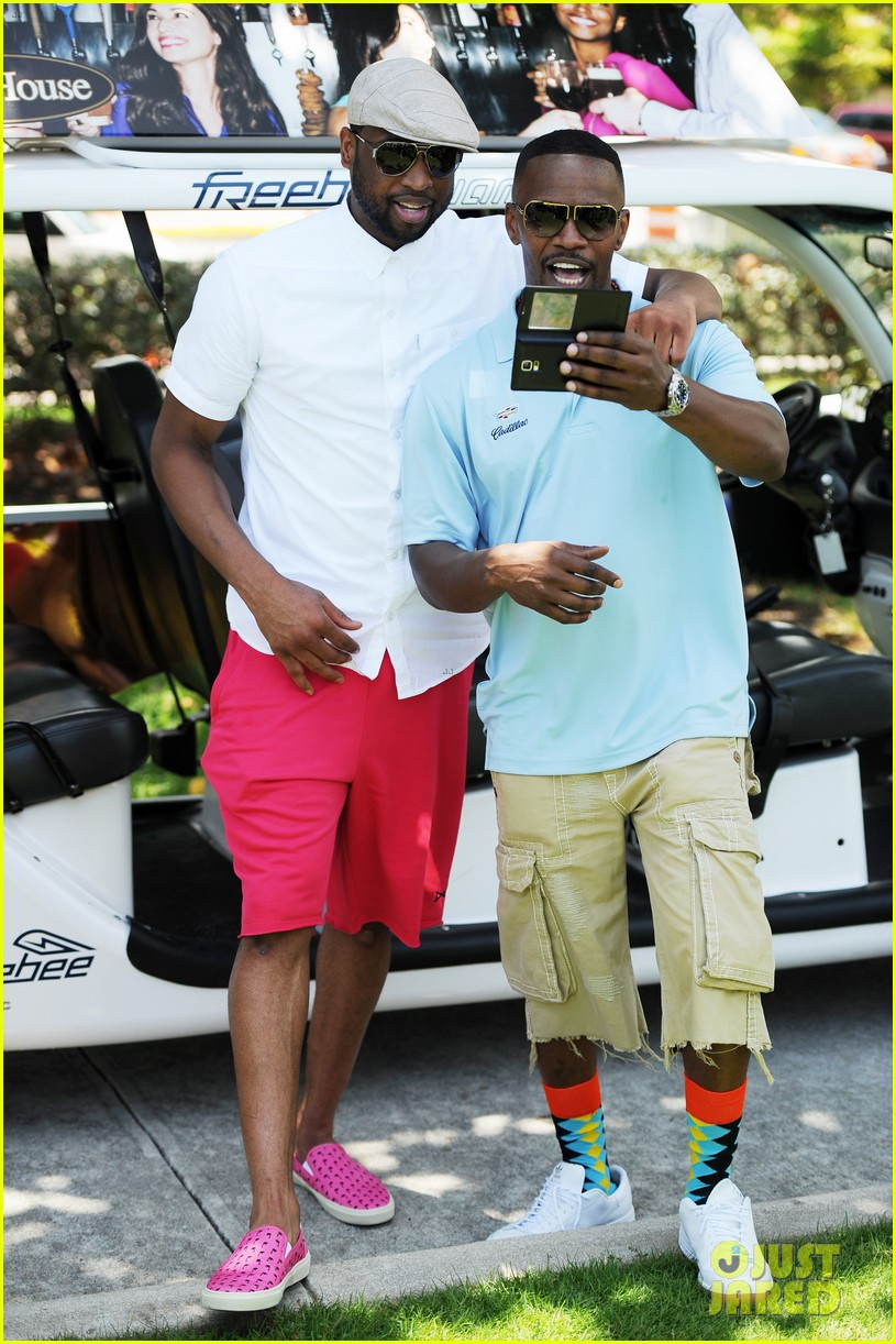 jamie fox dwyane wade celebrity golf tournament miami 123141127