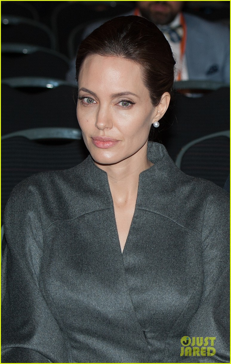 angelina jolie brad pitt keep hand in hand at the global summit end sexual violence 23