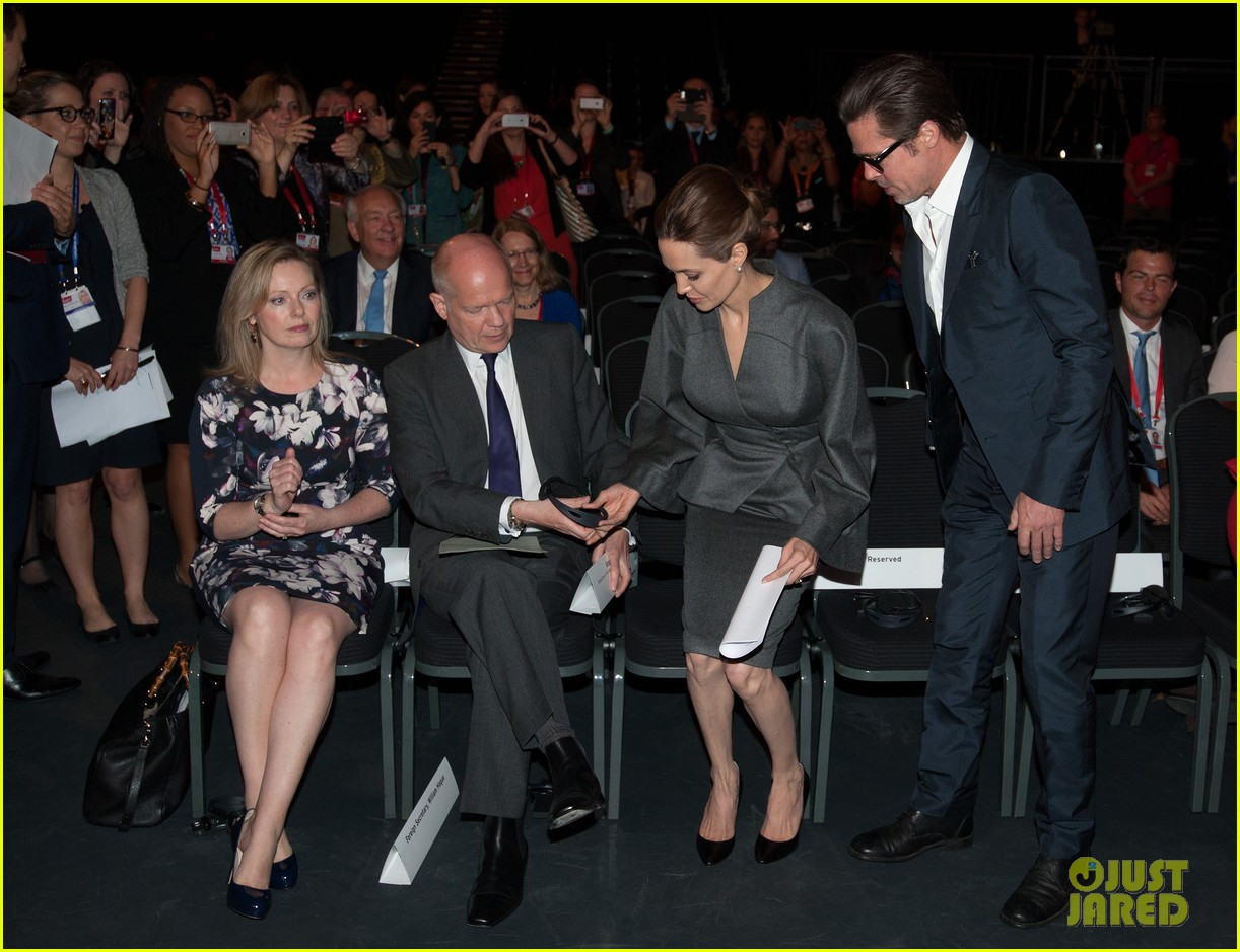 angelina jolie brad pitt keep hand in hand at the global summit end sexual violence 26