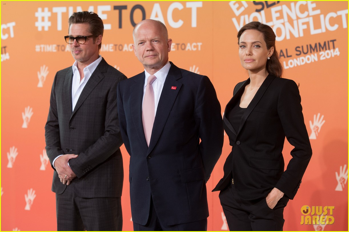 brad pitt supports wife angelina jolie at day three of global summit 11