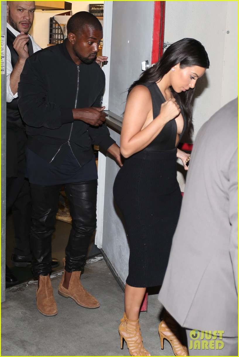 kim kardashian kanye west step out for dinner at craigs 06