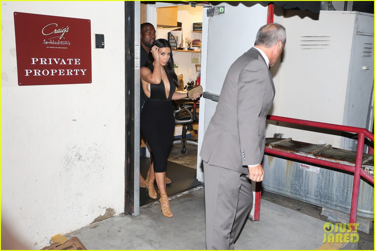 kim kardashian kanye west step out for dinner at craigs 10