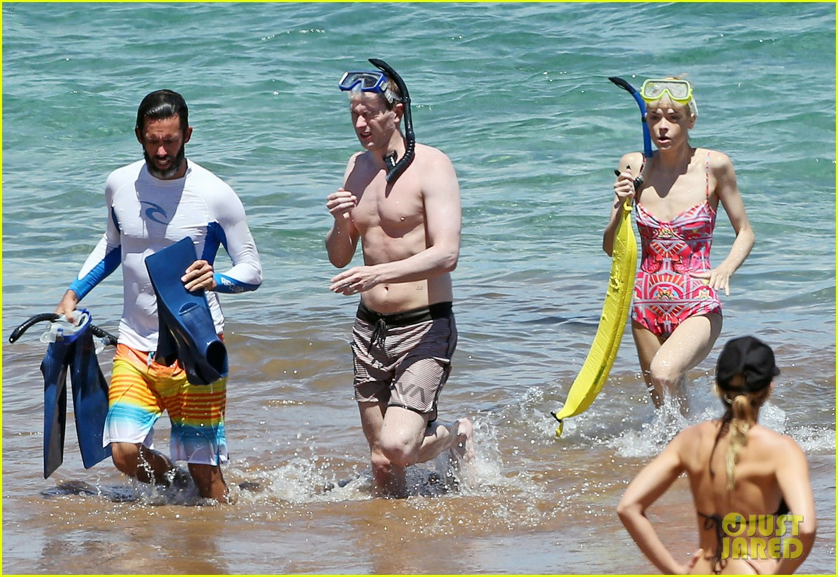 jaime king one piece swimsuit snorkeling hawaii 113137425