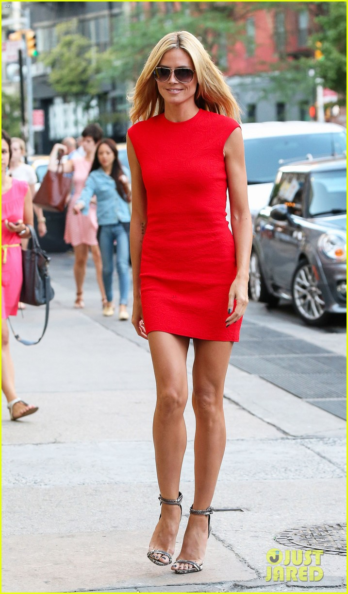 heidi klum is red hot in soho before america's got talent 063143002