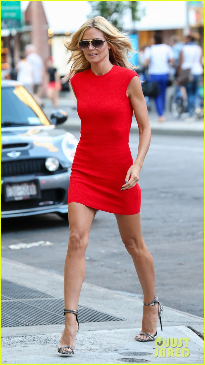 heidi klum is red hot in soho before america's got talent 08