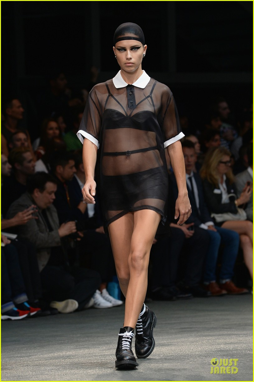 adriana lima irina shayk sheer at givenchy show 013145217