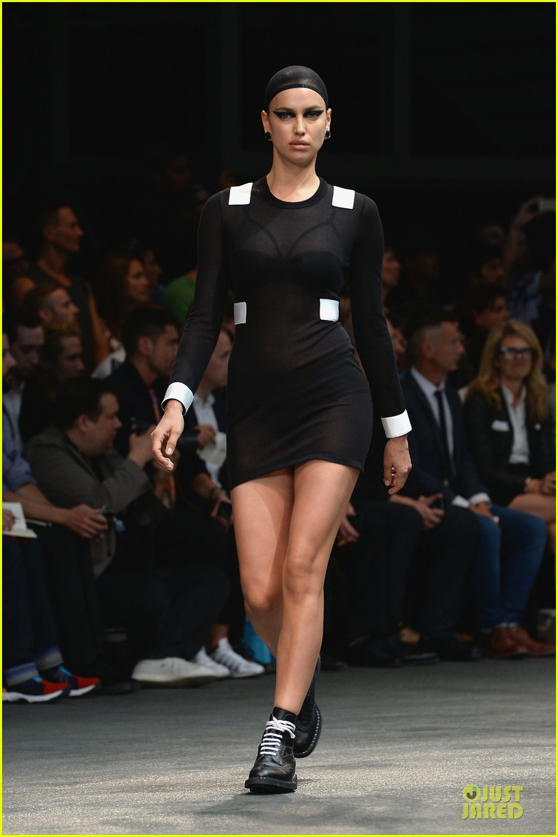 adriana lima irina shayk sheer at givenchy show 05