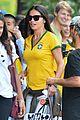 adriana lima kicks soccer ball during world cup 04
