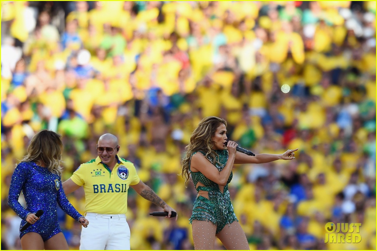 jennifer lopez performs at world cup 2014 opening ceremony with pitbull claudia leitte 063134064