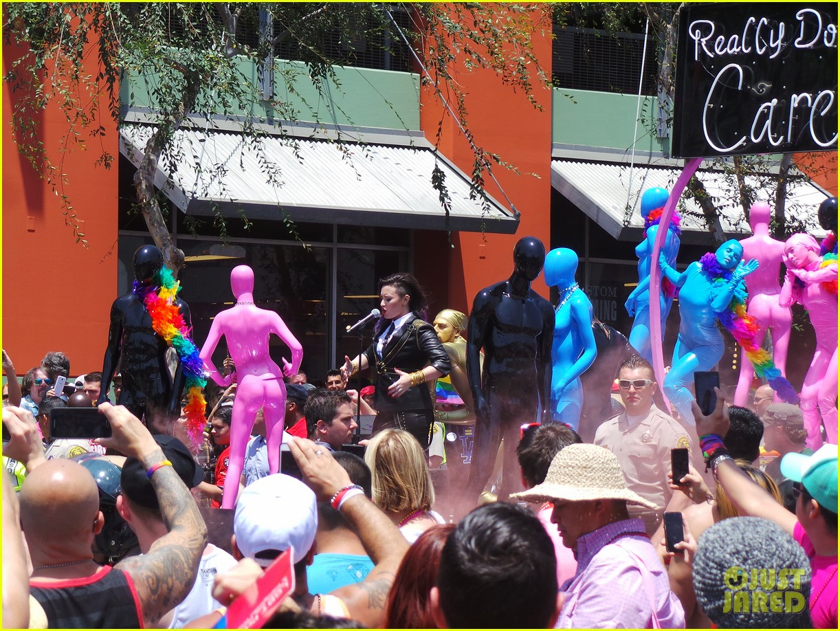 demi lovato really dont care music video shoot la pride 2014 13