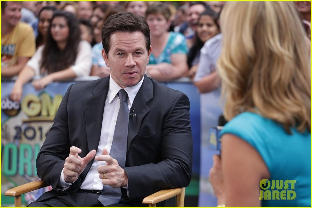 mark wahlberg promotes transformers age of extinction on gma 03