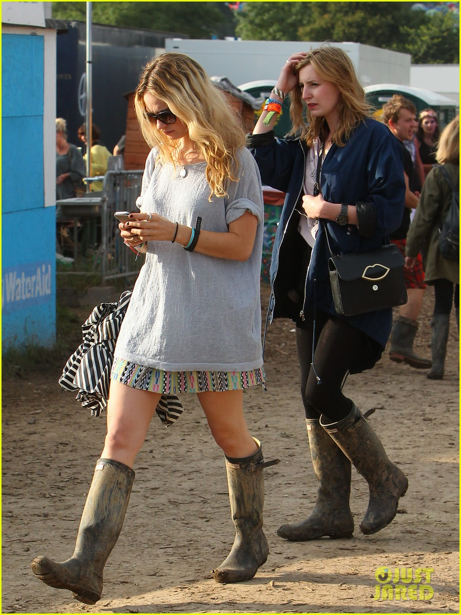 matt smith lily james attend glastonbury festival 053146869