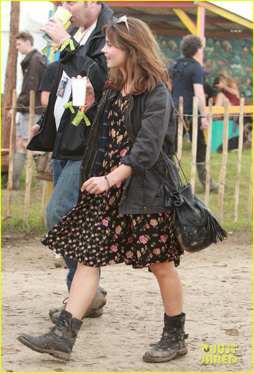 matt smith lily james attend glastonbury festival 06