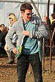 matt smith lily james attend glastonbury festival 16